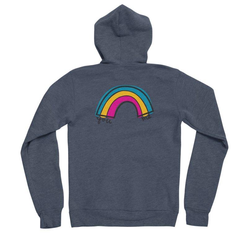 You Me Rainbow Women's Sponge Fleece Zip-Up Hoody by \\ LOVING RO<3OT .boop.boop.