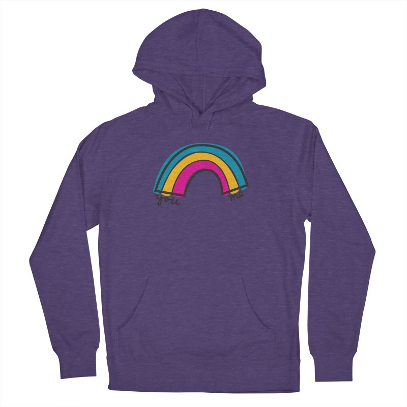 You Me Rainbow Men's French Terry Pullover Hoody by \\ LOVING RO<3OT .boop.boop.
