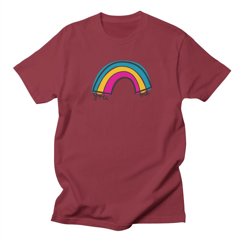 You Me Rainbow Men's Regular T-Shirt by \\ LOVING RO<3OT .boop.boop.