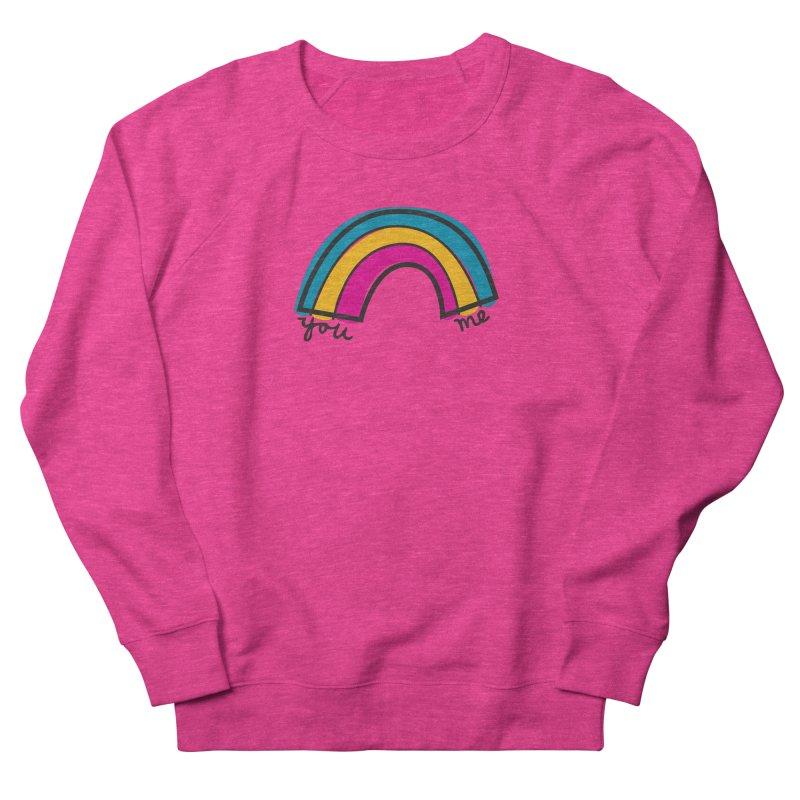You Me Rainbow Men's French Terry Sweatshirt by \\ LOVING RO<3OT .boop.boop.