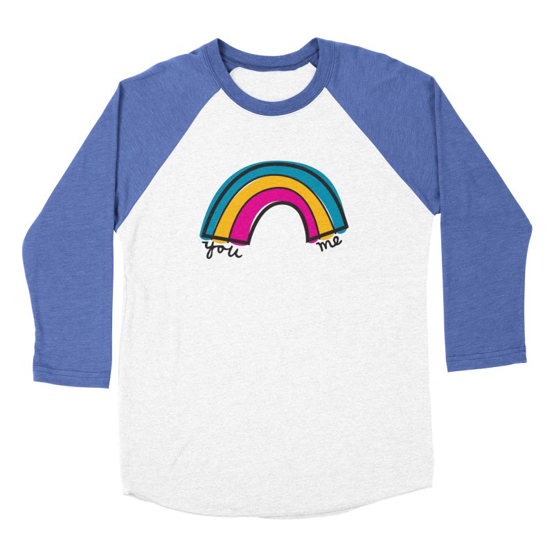 You Me Rainbow Women's Baseball Triblend Longsleeve T-Shirt by \\ LOVING RO<3OT .boop.boop.