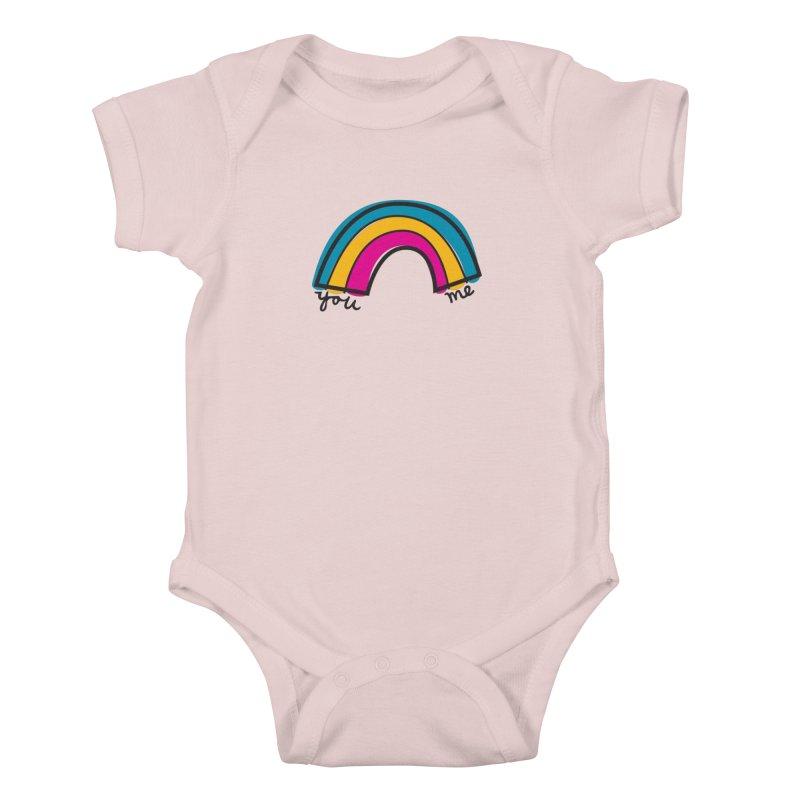 You Me Rainbow Kids Baby Bodysuit by \\ LOVING RO<3OT .boop.boop.