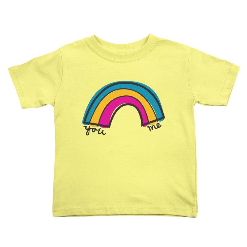 You Me Rainbow Kids Toddler T-Shirt by \\ LOVING RO<3OT .boop.boop.
