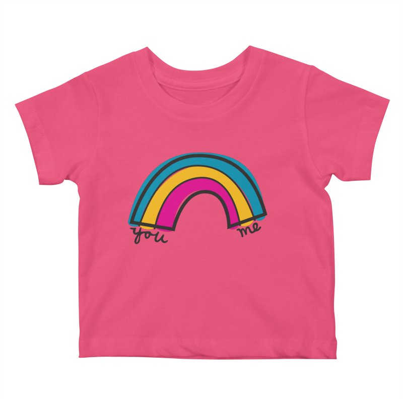 You Me Rainbow Kids Baby T-Shirt by \\ LOVING RO<3OT .boop.boop.