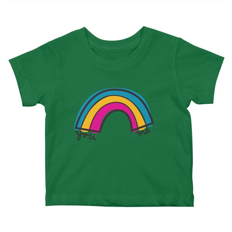 You Me Rainbow Kids Baby T-Shirt by \\ LOVING RO<3OT .boop.boop.