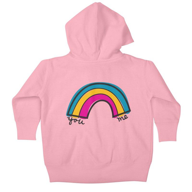 You Me Rainbow Kids Baby Zip-Up Hoody by \\ LOVING RO<3OT .boop.boop.