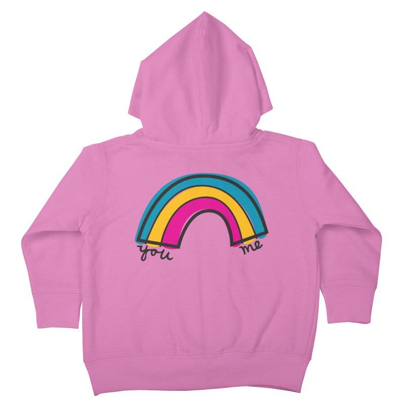 You Me Rainbow Kids Toddler Zip-Up Hoody by \\ LOVING RO<3OT .boop.boop.