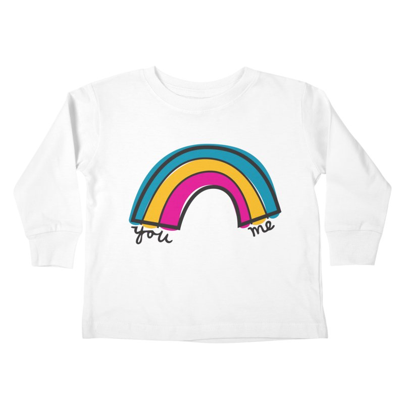 You Me Rainbow Kids Toddler Longsleeve T-Shirt by \\ LOVING RO<3OT .boop.boop.