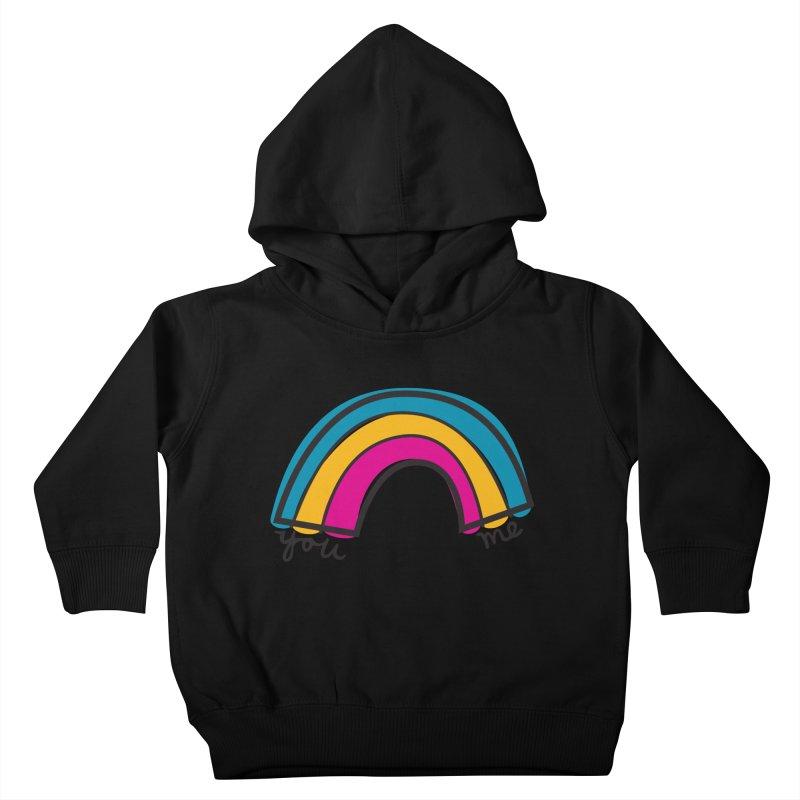 You Me Rainbow Kids Toddler Pullover Hoody by \\ LOVING RO<3OT .boop.boop.