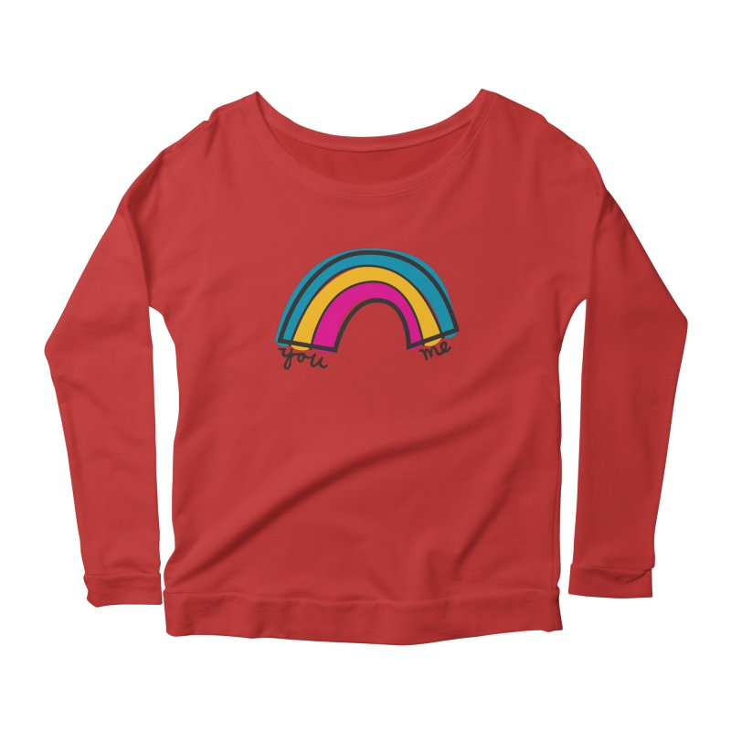 You Me Rainbow Women's Scoop Neck Longsleeve T-Shirt by \\ LOVING RO<3OT .boop.boop.