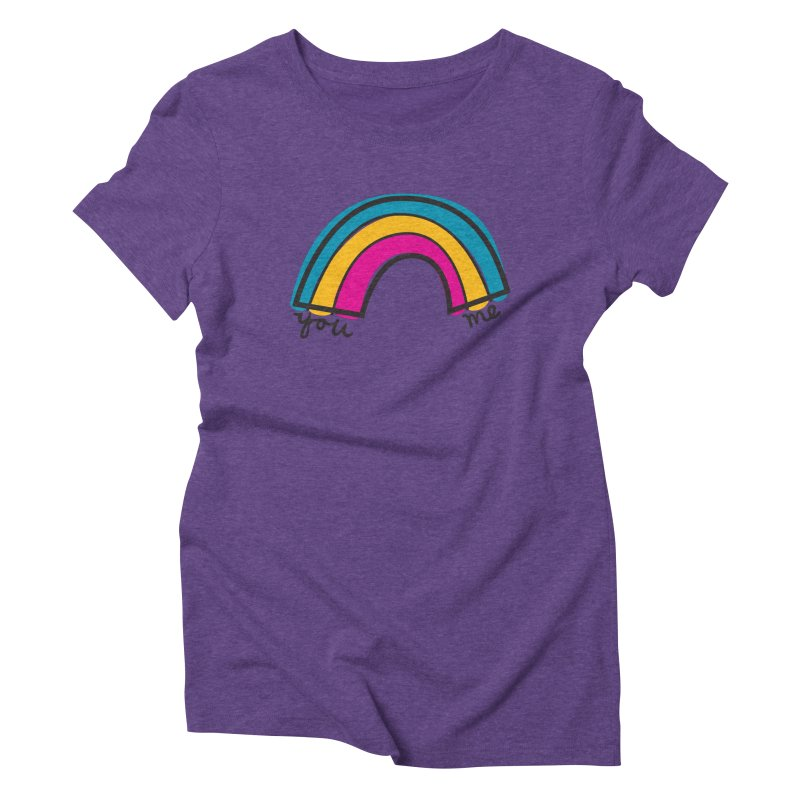 You Me Rainbow Women's Triblend T-Shirt by \\ LOVING RO<3OT .boop.boop.