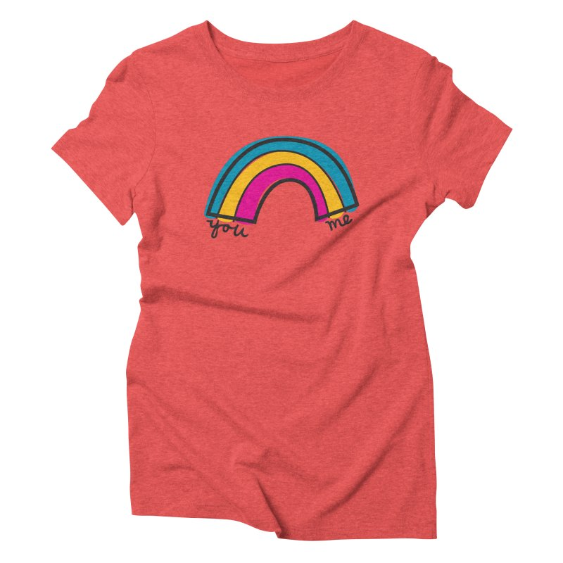 You Me Rainbow Women's Triblend T-Shirt by \\ LOVING RO<3OT .boop.boop.