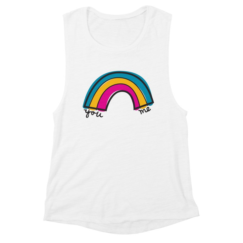You Me Rainbow Women's Muscle Tank by \\ LOVING RO<3OT .boop.boop.