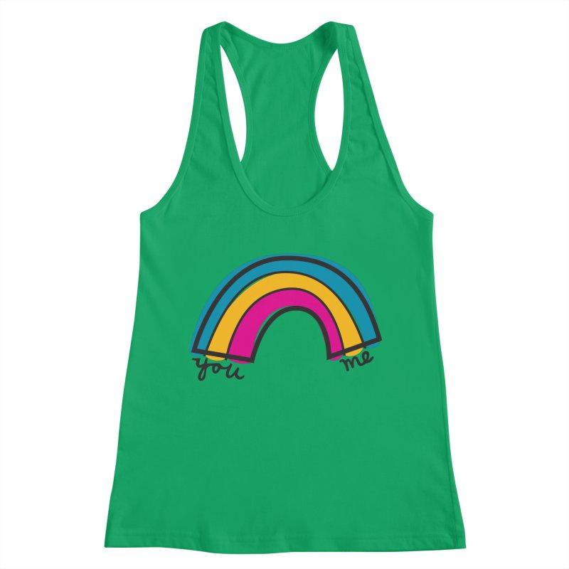 You Me Rainbow Women's Racerback Tank by \\ LOVING RO<3OT .boop.boop.