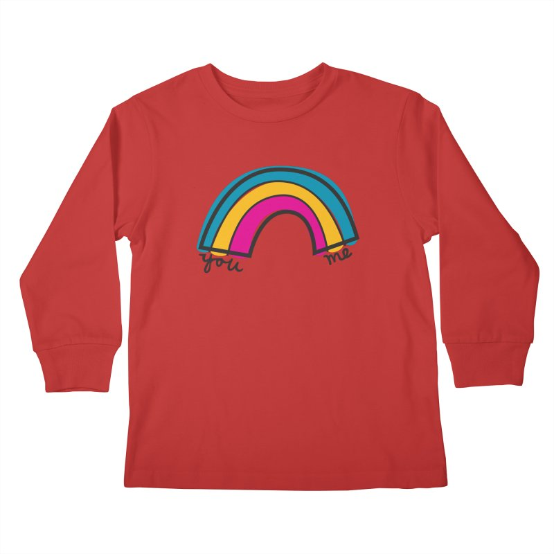 You Me Rainbow Kids Longsleeve T-Shirt by \\ LOVING RO<3OT .boop.boop.