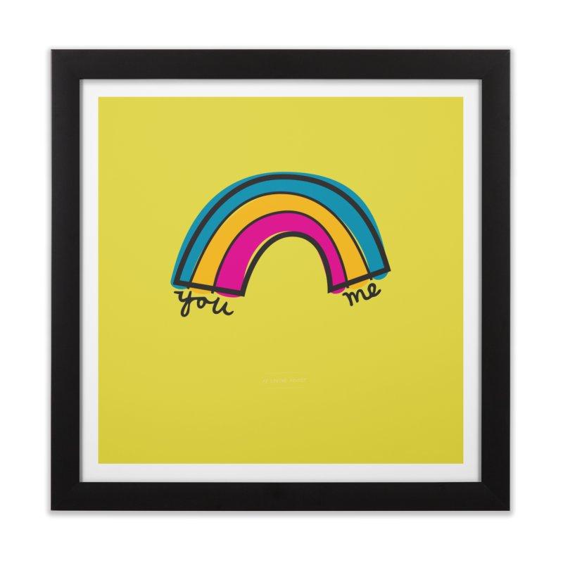 You Me Rainbow Home Framed Fine Art Print by \\ LOVING RO<3OT .boop.boop.