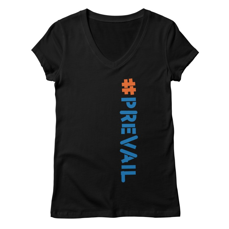 #prevail (vertical) Women's V-Neck by \\ LOVING RO<3OT .boop.boop.