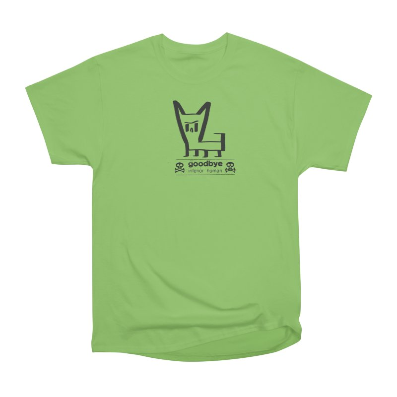 goodbye, inferior human (one color) Men's Heavyweight T-Shirt by \\ LOVING RO<3OT .boop.boop.