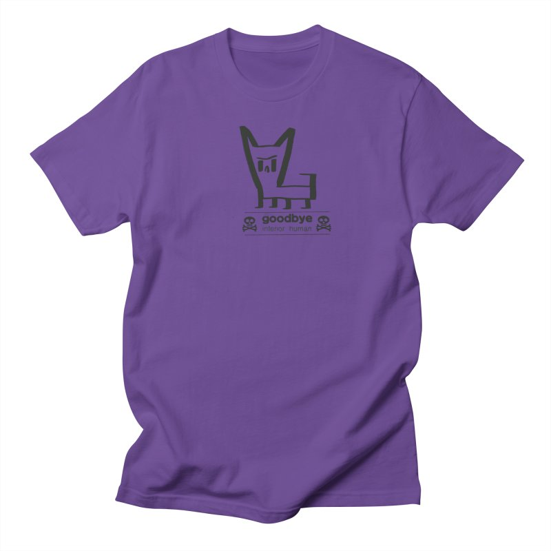 goodbye, inferior human (one color) Men's Regular T-Shirt by \\ LOVING RO<3OT .boop.boop.