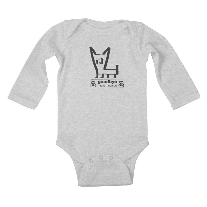 goodbye, inferior human (one color) Kids Baby Longsleeve Bodysuit by \\ LOVING RO<3OT .boop.boop.