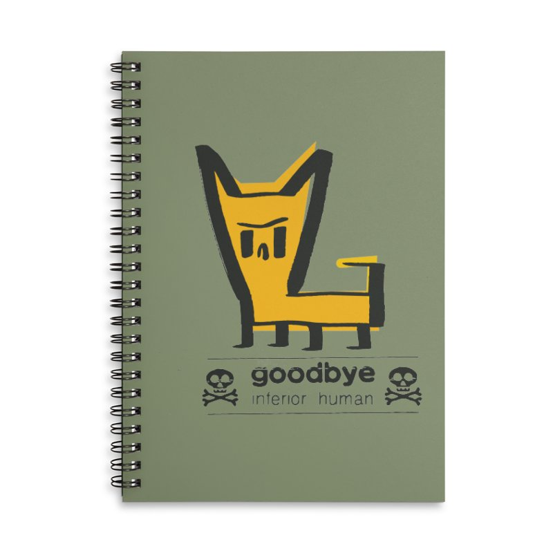 goodbye, inferior human (two color) Accessories Lined Spiral Notebook by \\ LOVING RO<3OT .boop.boop.