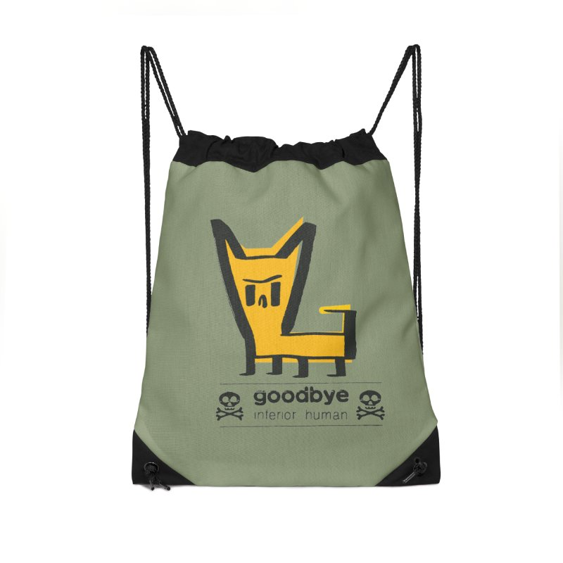 goodbye, inferior human (two color) Accessories Drawstring Bag Bag by \\ LOVING RO<3OT .boop.boop.