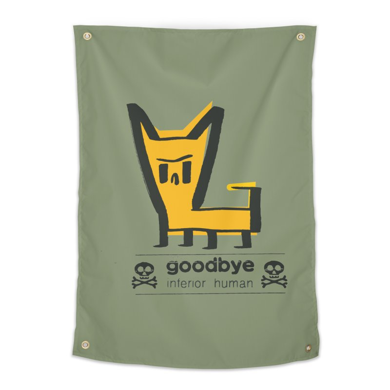 goodbye, inferior human (two color) Home Tapestry by \\ LOVING RO<3OT .boop.boop.