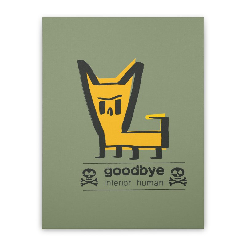 goodbye, inferior human (two color) Home Stretched Canvas by \\ LOVING RO<3OT .boop.boop.