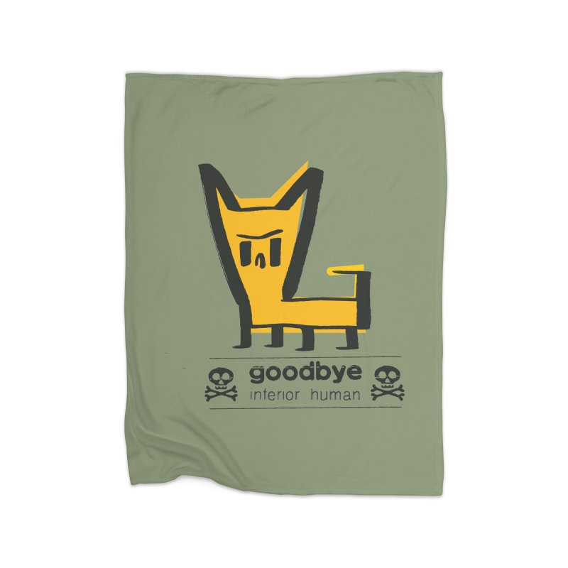 goodbye, inferior human (two color) Home Fleece Blanket Blanket by \\ LOVING RO<3OT .boop.boop.