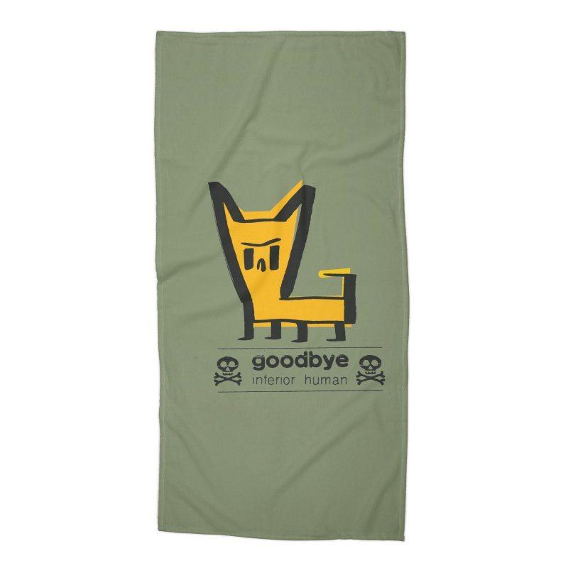 goodbye, inferior human (two color) Accessories Beach Towel by \\ LOVING RO<3OT .boop.boop.