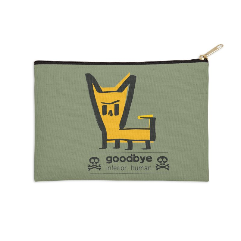 goodbye, inferior human (two color) Accessories Zip Pouch by \\ LOVING RO<3OT .boop.boop.