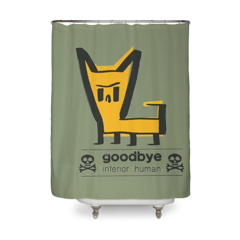 goodbye, inferior human (two color) Home Shower Curtain by \\ LOVING RO<3OT .boop.boop.