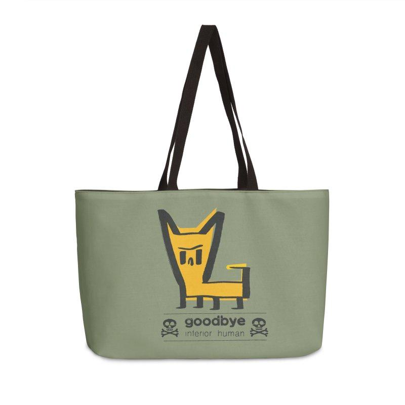 goodbye, inferior human (two color) Accessories Weekender Bag Bag by \\ LOVING RO<3OT .boop.boop.