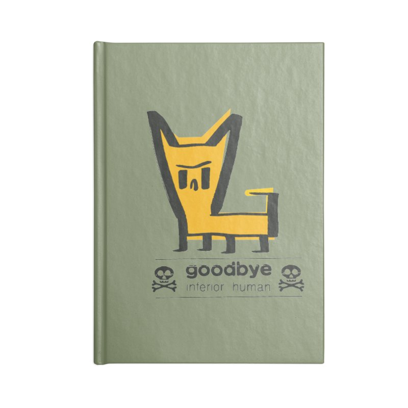 goodbye, inferior human (two color) Accessories Lined Journal Notebook by \\ LOVING RO<3OT .boop.boop.