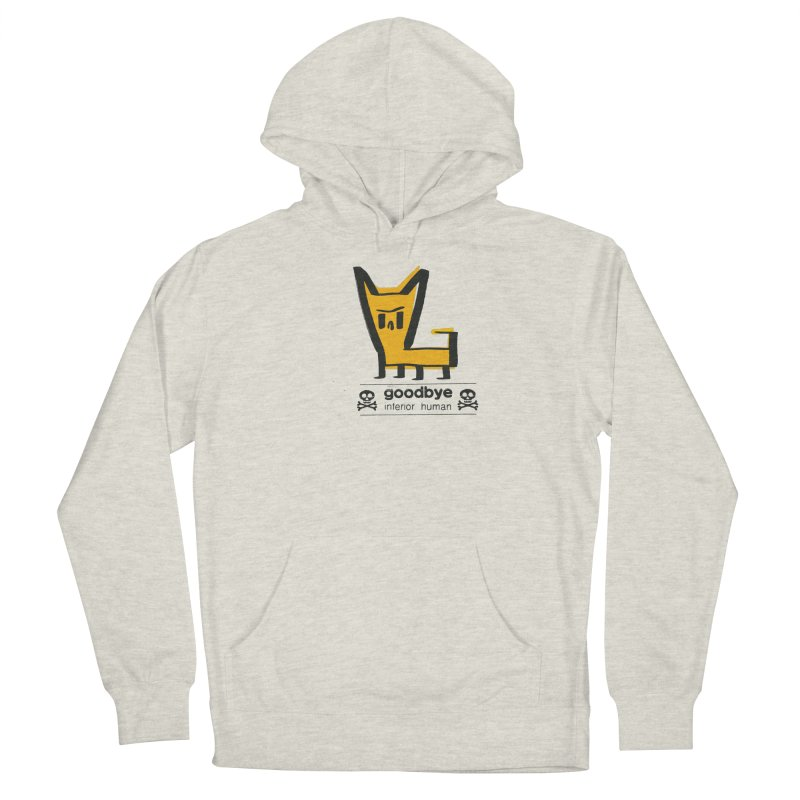 goodbye, inferior human (two color) Men's French Terry Pullover Hoody by \\ LOVING RO<3OT .boop.boop.