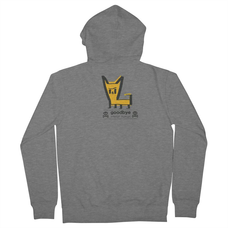 goodbye, inferior human (two color) Women's French Terry Zip-Up Hoody by \\ LOVING RO<3OT .boop.boop.