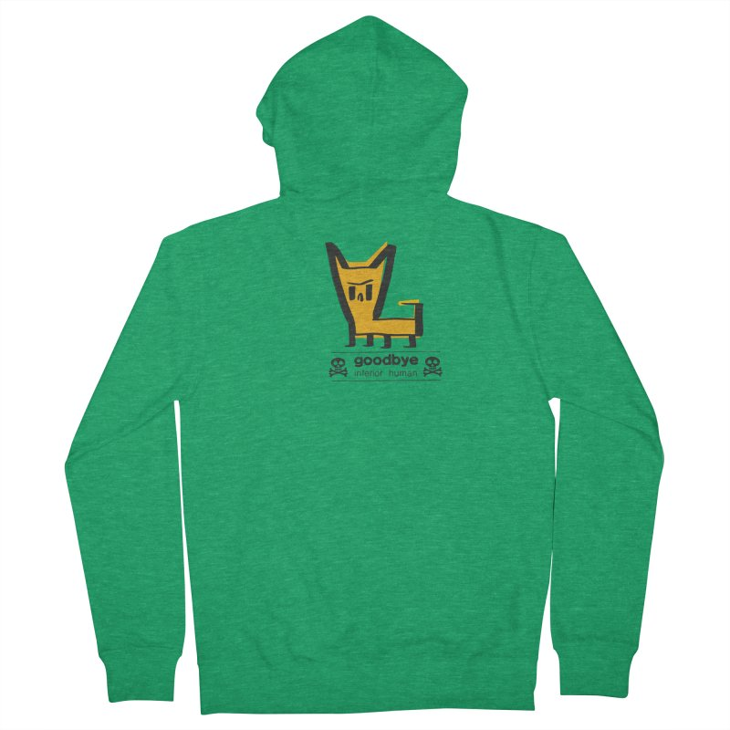 goodbye, inferior human (two color) Men's French Terry Zip-Up Hoody by \\ LOVING RO<3OT .boop.boop.