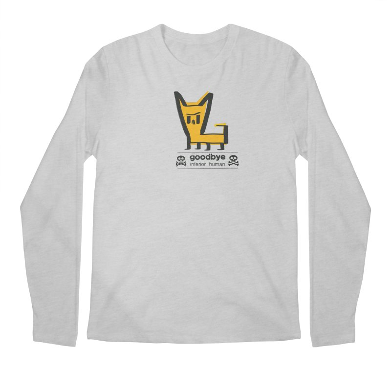 goodbye, inferior human (two color) Men's Regular Longsleeve T-Shirt by \\ LOVING RO<3OT .boop.boop.