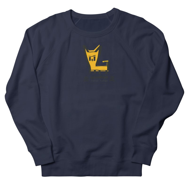 goodbye, inferior human (two color) Men's French Terry Sweatshirt by \\ LOVING RO<3OT .boop.boop.