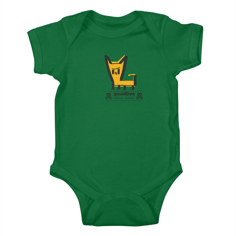 goodbye, inferior human (two color) Kids Baby Bodysuit by \\ LOVING RO<3OT .boop.boop.