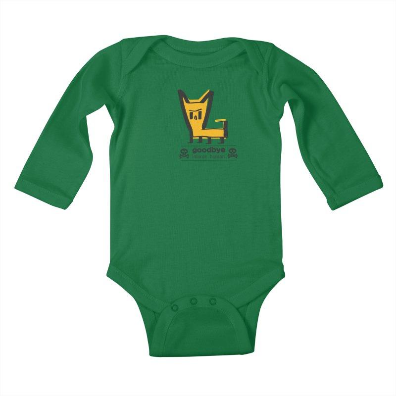 goodbye, inferior human (two color) Kids Baby Longsleeve Bodysuit by \\ LOVING RO<3OT .boop.boop.