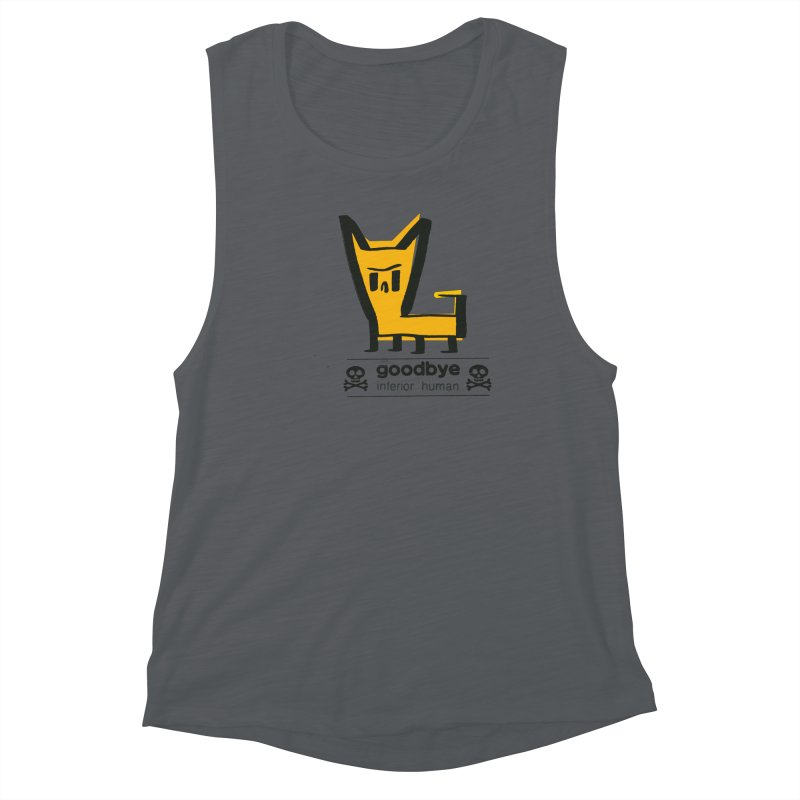 goodbye, inferior human (two color) Women's Muscle Tank by \\ LOVING RO<3OT .boop.boop.