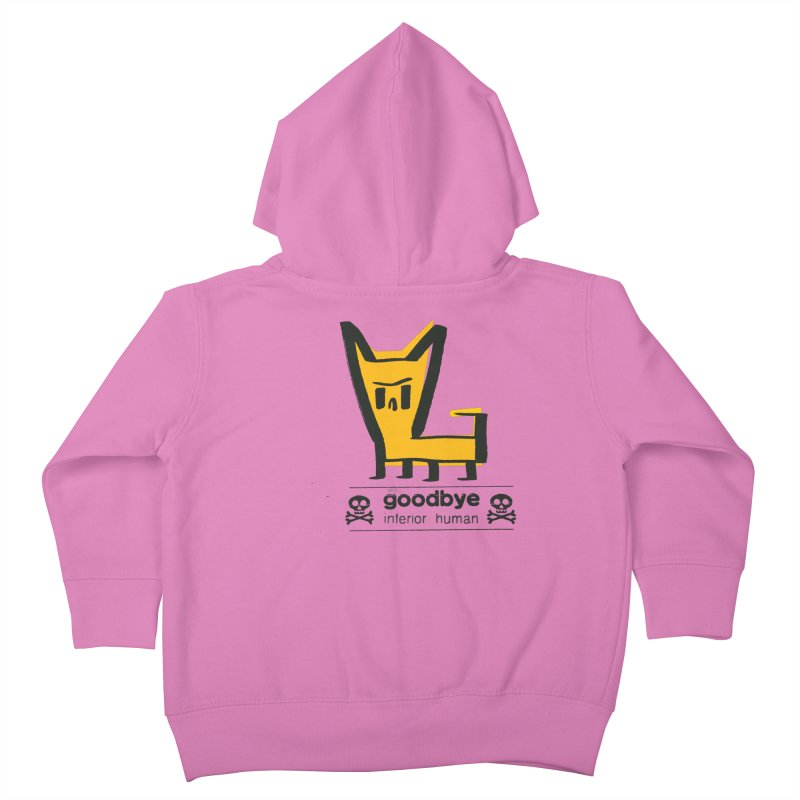 goodbye, inferior human (two color) Kids Toddler Zip-Up Hoody by \\ LOVING RO<3OT .boop.boop.