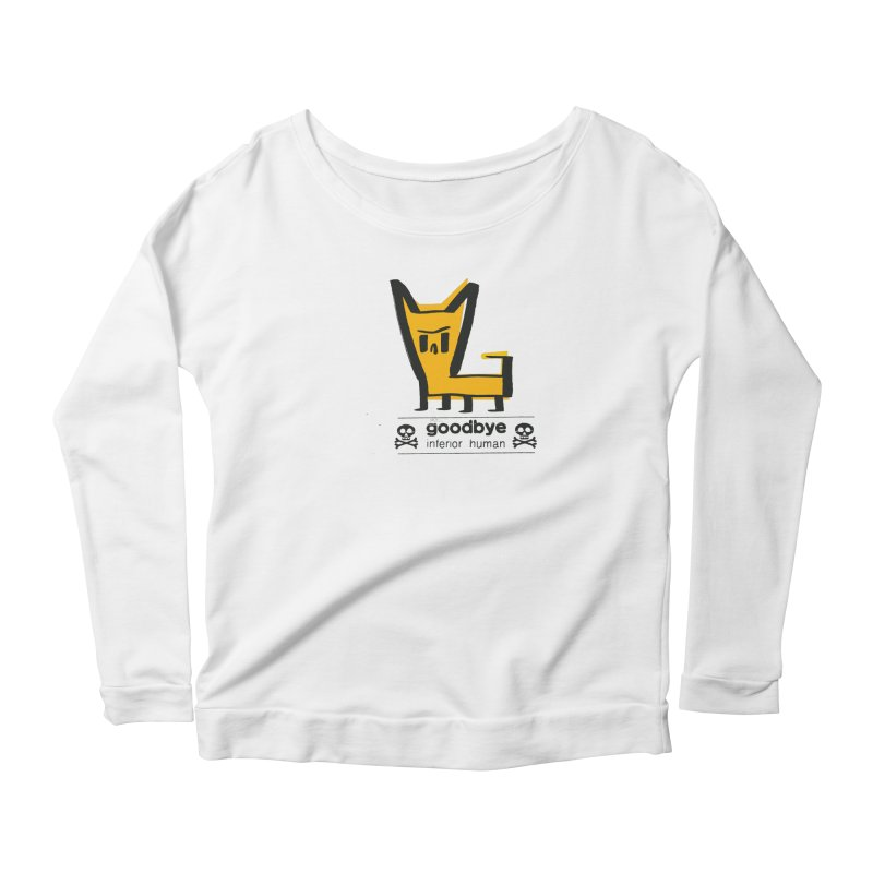 goodbye, inferior human (two color) Women's Scoop Neck Longsleeve T-Shirt by \\ LOVING RO<3OT .boop.boop.