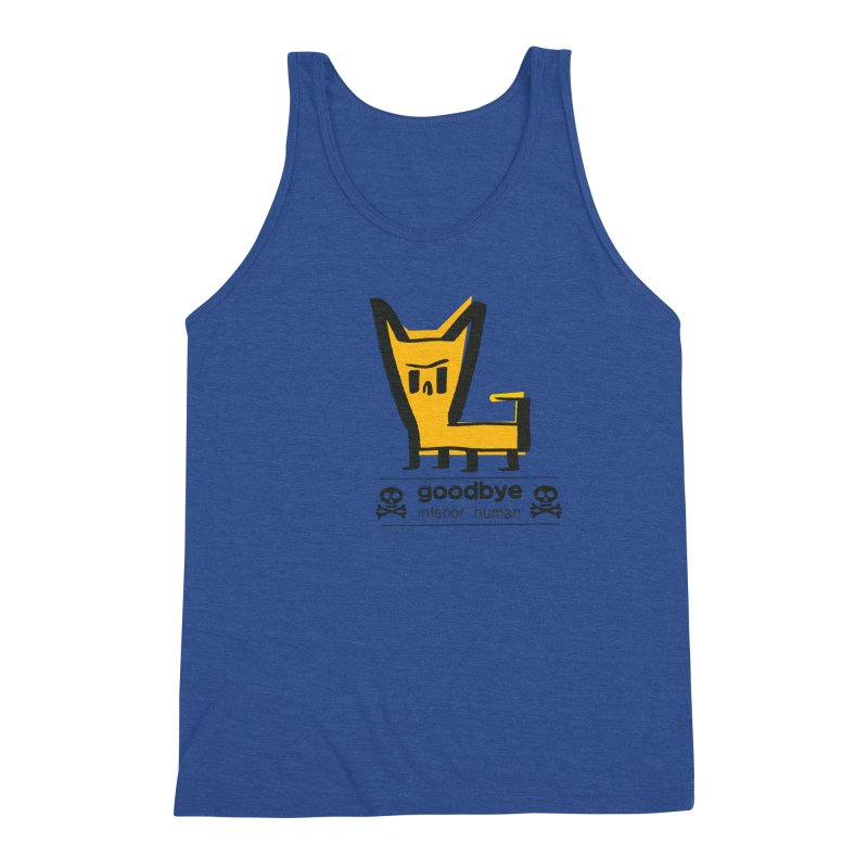 goodbye, inferior human (two color) Men's Triblend Tank by \\ LOVING RO<3OT .boop.boop.