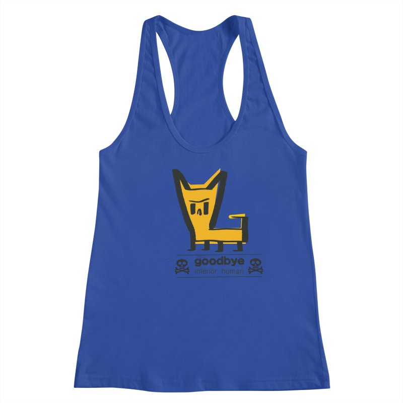 goodbye, inferior human (two color) Women's Racerback Tank by \\ LOVING RO<3OT .boop.boop.