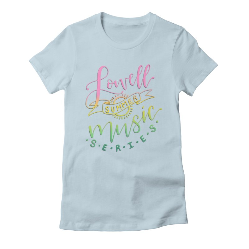 Script Rainbow Women's T-Shirt by lowellsummermusic's Artist Shop