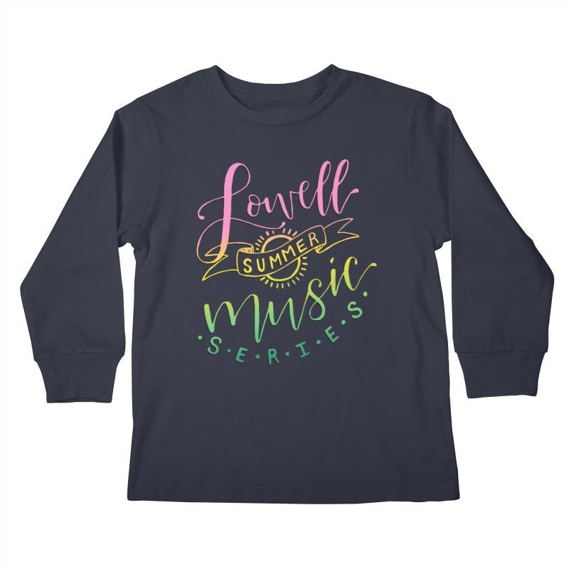 Script Rainbow Kids Longsleeve T-Shirt by lowellsummermusic's Artist Shop