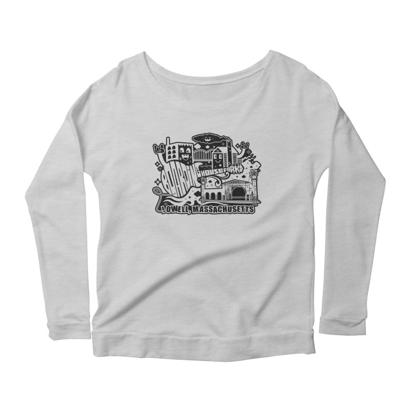 Toon City Black Women's Longsleeve T-Shirt by lowellsummermusic's Artist Shop