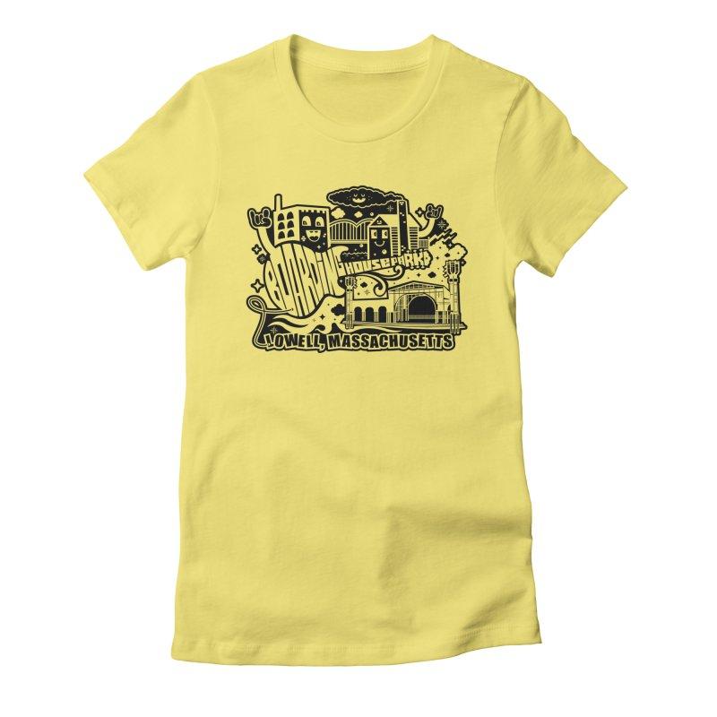 Toon City Black Women's T-Shirt by lowellsummermusic's Artist Shop